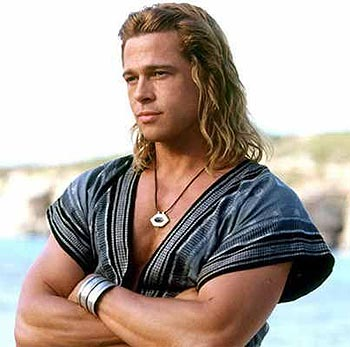 brad pitt troy. Brad Pitt in a scene from Troy