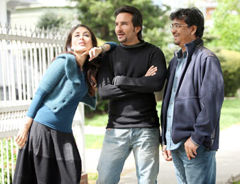 Kareena Kapoor, Saif Ali Khan and Rensil D Silva