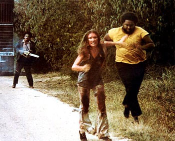 A scene from The Texas Chain Saw Massacre