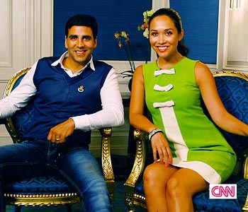 Akshay Kumar and Myleene Klass