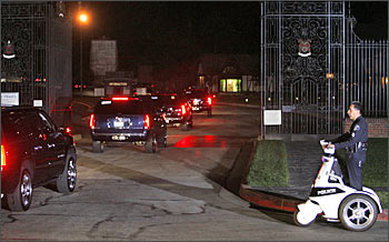The Jackson family arrives at Forest Lawn Memorial Park