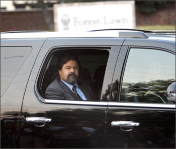 Michael's bodyguard Miko Brando arrives at Forest Lawn Memorial Park
