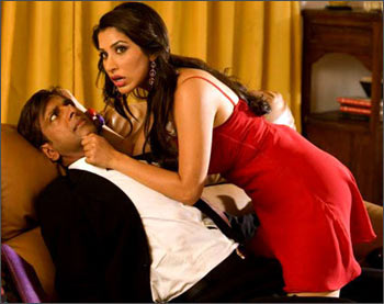 Javed Jaffri and Sophie Chowdry in a scene from Daddy Cool