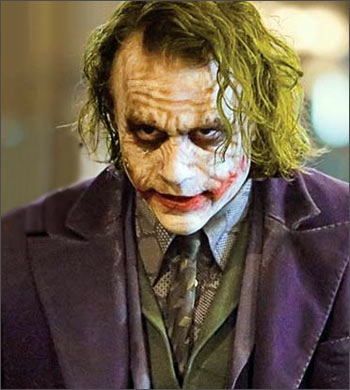 Heath Ledger in a scene from The Dark Knight