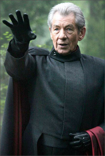 Sir Ian MCKellen in a scene from X-Men