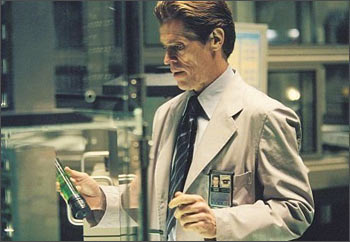 Willem Dafoe in a scene from Spider-Man