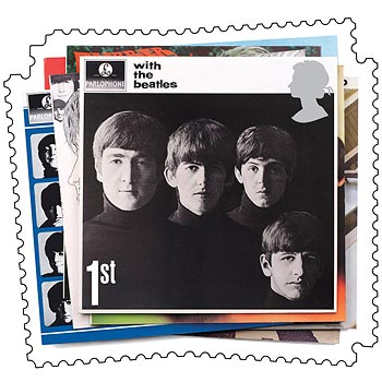 Handout of Beatles album cover which appeared on special stamps issued by Britain's Royal Mail