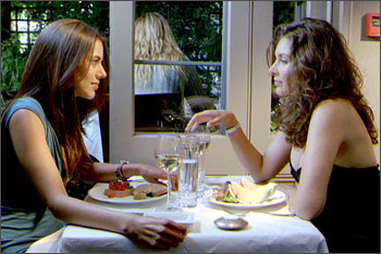 Sheetal Sheth and Lisa Ray in a scene from I Can't Think Straight