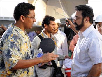 Chakri Toleti (left) and Kamal Haasan
