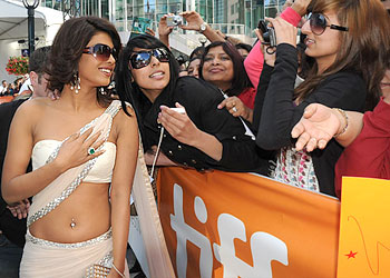 Priyanka Chopra interacts with fans