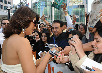 Priyanka Chopra signs autographs