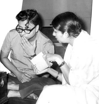 Lata Mangeshkar with R D Burman