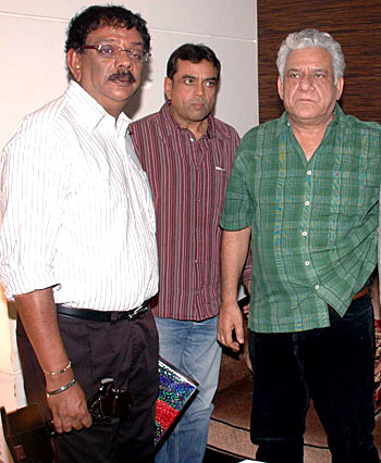 Priyadarshan, Paresh Rawal and Om Puri