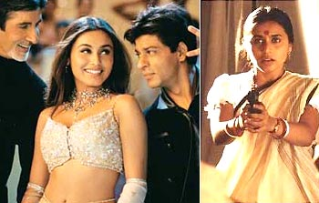 Scenes from Kabhi Khushi Kabhie Gham and Hey Ram