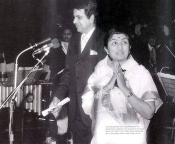 Lata Mangeshkar with Dilip Kumar