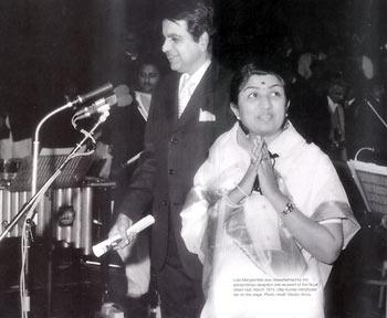Lata Mangeshkar with Dilip Kumar