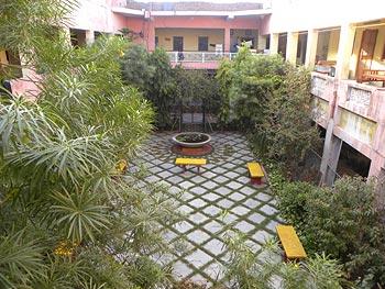 A view of the Ashram