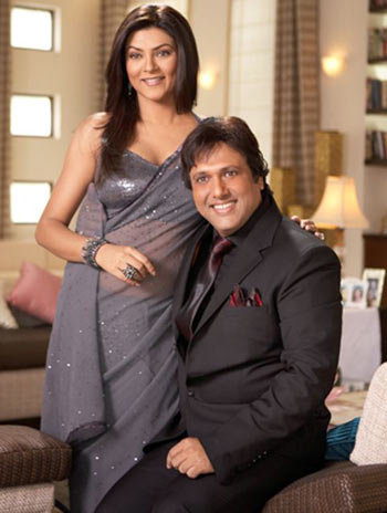 Sushmita Sen and Govinda in a scene from Do Knot Disturb
