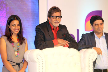 Ashwini Yardi, Head of Programming, Colors, Amitabh Bachchan and  Rajesh Kamath, CEO, Colors