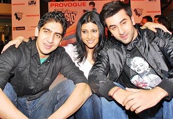 Ayan Mukerji, Konkona Sen Sharma and Ranbir Kapoor
