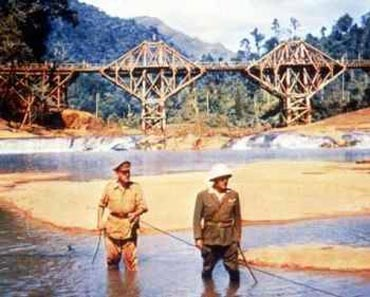A scene from The Bridge On The River Kwai
