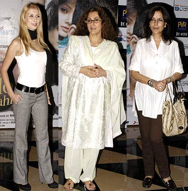 Claudia Ciesla, DImple Kapadia and Zeenat Aman