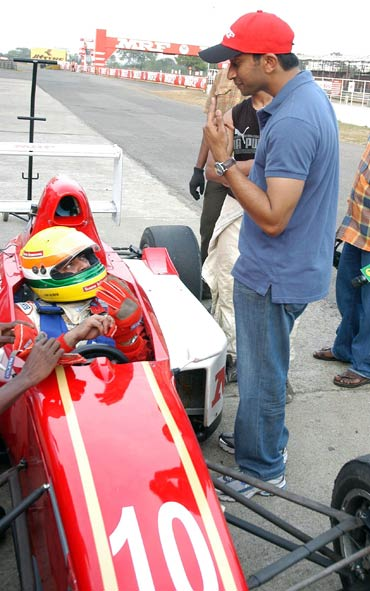 Ajith Kumar and Narain Karthikeyan