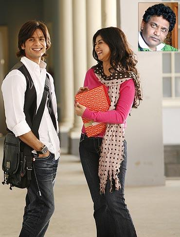 Shahid Kapoor, Ayesha Takia in Paathshaala, inset director Milind Ukey