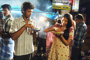 A scene from Angadi Theru
