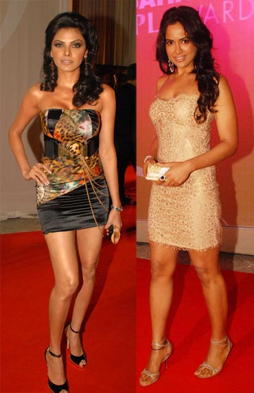 Sherlyn Chopra and Sameera Reddy