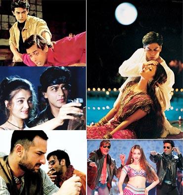 Scenes from Andaz Apna Apna, Josh, Omkara, Devdas and Bunty Aur Babli