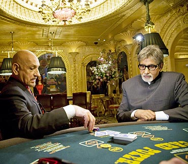 A scene from Teen Patti