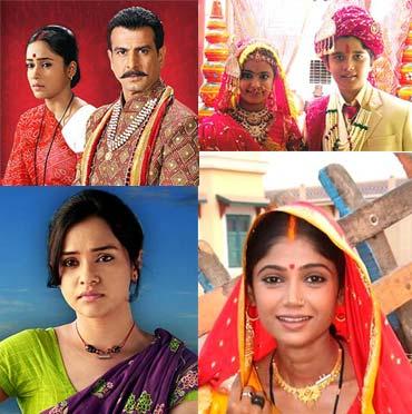 Scenes from Bandini, Balika Vadhu, Jamunia and Agle Janam Mohe Bitiya Hi Kijo