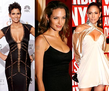 Halle Berry,  Angelina Jolie and Jennifer Lopez