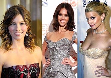 Jessica Biel, Jessica Alba and singer Jessica Simpson