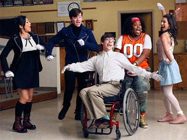 A scene from Glee