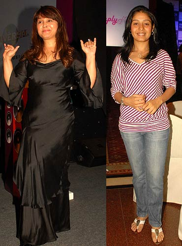 Alisha Chinoy and Sunidhi Chauhan