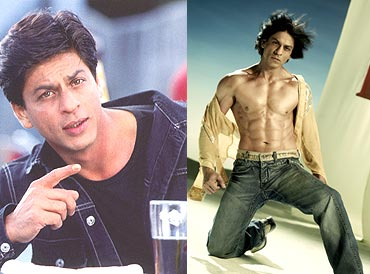 Shah Rukh Khan in Main Hoon Na and Om Shanti Om