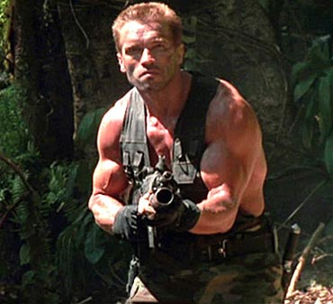 A scene from Predator
