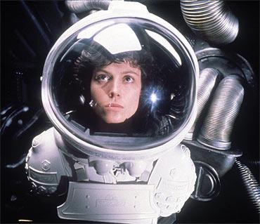 A scene from Alien