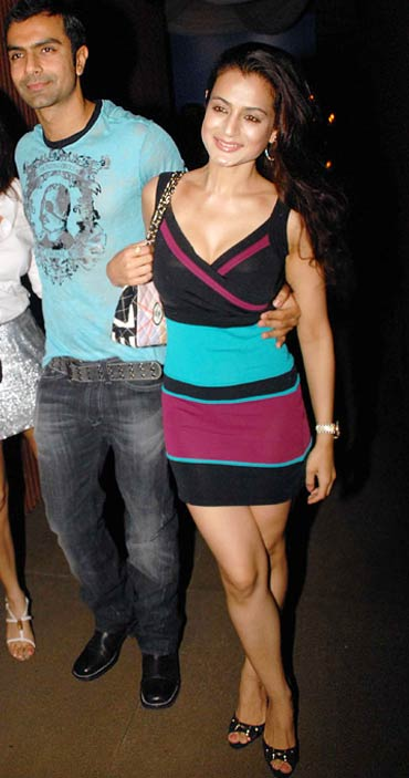 Ashmit and Amisha Patel