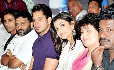 Bharat and Kajal Agarwal (in the middle)