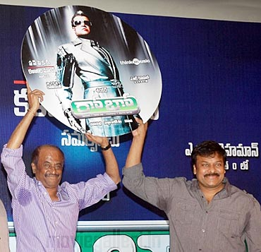 Rajnikanth and Chiranjeevi