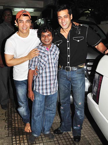 Aamir Khan, Omkar Das Manikpuri and Salman Khan