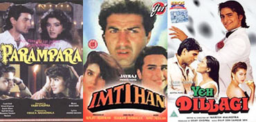 Posters of Parampara, Imtihaan and Yeh Dillagi