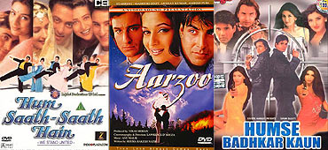 Posters of Hum Saath Saath Hai, Aarzoo and Humse Badkar Kaun