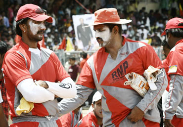 Sudeep and Dharma at the match