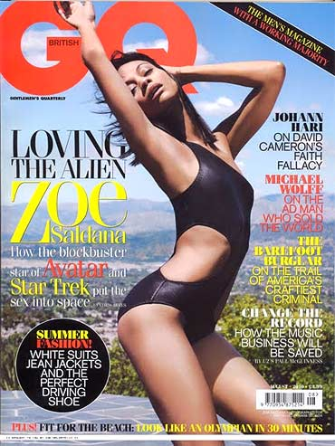 Zoe Saldana on GQ cover