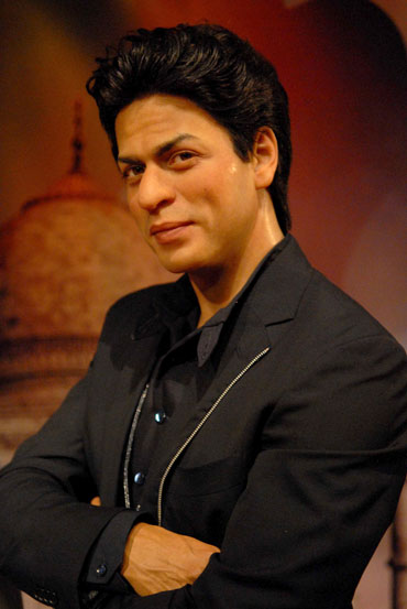 A close up of Shah Rukh Khan's wax figure