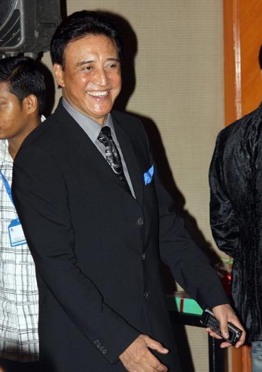 Yesteryear villain Danny Denzongpa, who plays villain in Robot, at the music launch